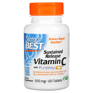 Докторс Бэст, Sustained Release Vitamin C with PureWay-C, 500 mg, 60 Tablets отзывы