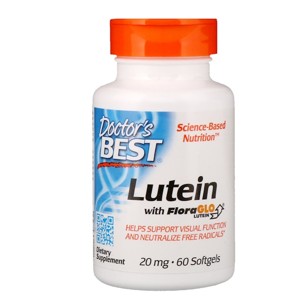 Doctor's Best, Lutein mit FloraGlo-Lutein, 20 mg, 60 Softgels