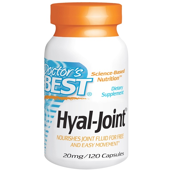 Doctor's Best, Hyal-Joint, 20 mg, 120 Capsules (Discontinued Item)