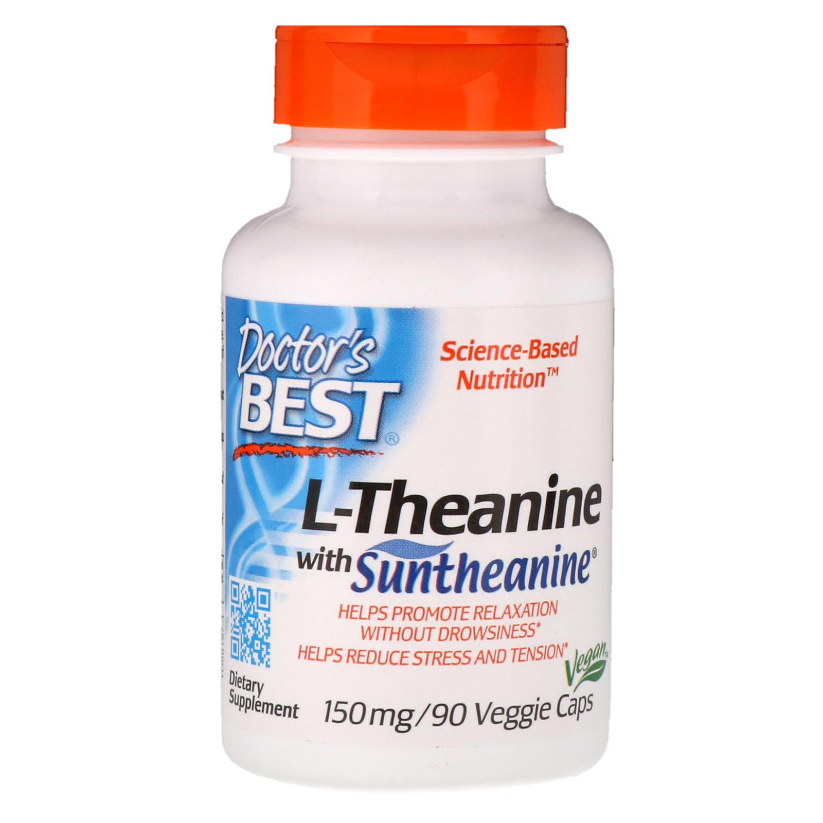Doctor's Best, Suntheanine L-Theanine, 150 mg, 90 Veggie