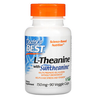 Doctor's Best, L-Theanine with Suntheanine, 150 mg, 90 Veggie Caps