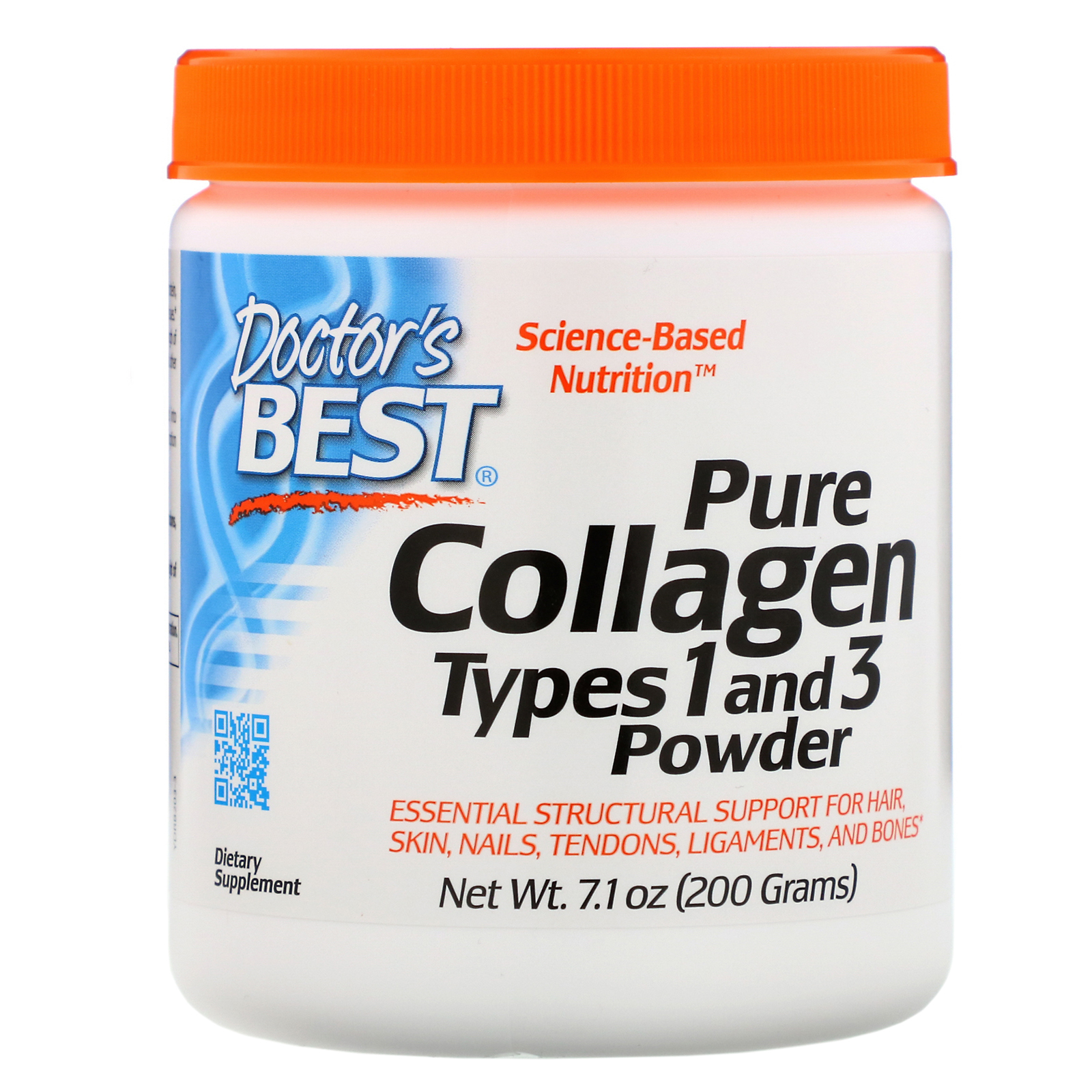 Doctor's Best, Pure Collagen Types 1 and 3 Powder, 7.1 oz (200 g) - Ultimate Sup