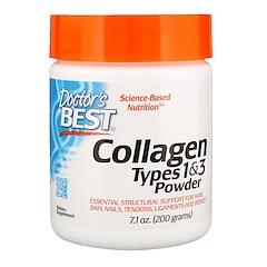 Doctor's Best, أفضل كولاجين، أنواع 1 و3، مسحوق، 7.1 أونصة (200 غ)