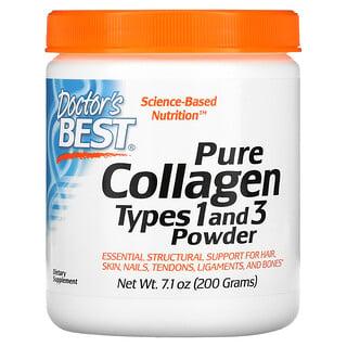 Doctor's Best, Colágeno de tipo1y3 puro en polvo, 200g (7,1oz)