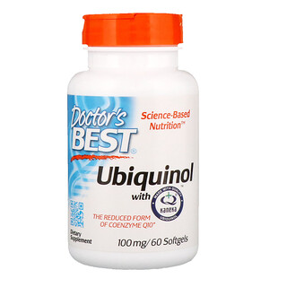 Doctor's Best, Ubiquinol with Kaneka, 100 mg, 60 Softgels