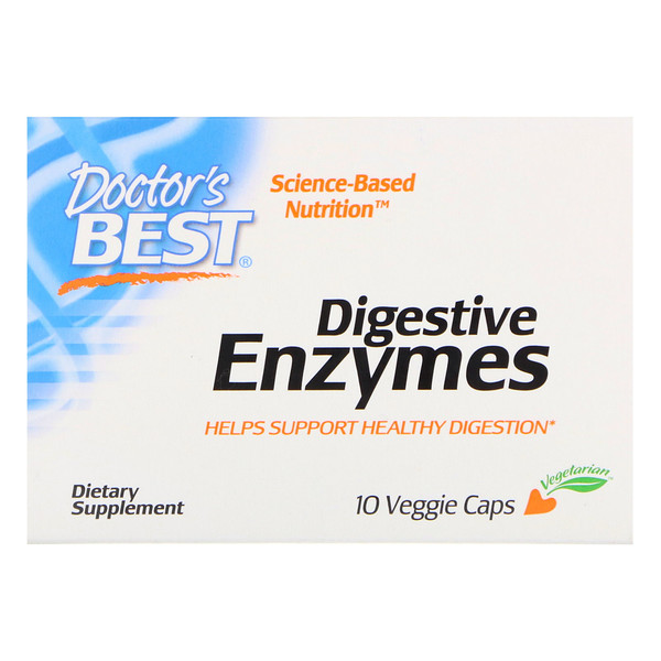 Doctor's Best, Digestive Enzymes, 10 Veggie Caps