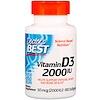Doctor's Best, ビタミンD3, 2,000IU、ソフトジェル180錠