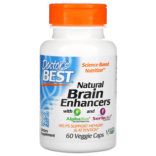 Doctor's Best, Natural Brain Enhancers with AlphaSize and SerinAid, 60 Veggie Caps