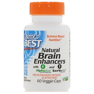 Doctor's Best, Natural Brain Enhancers, 60 Veggie Caps