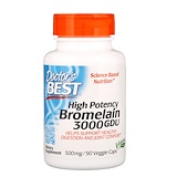 Отзывы о Doctor's Best, High Potency Bromelain, 3000 GDU, 500 mg, 90 Veggie Caps