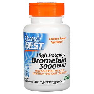 Докторс Бэст, Bromelain 3000 GDU, High Potency, 500 mg, 90 Veggie Caps отзывы покупателей