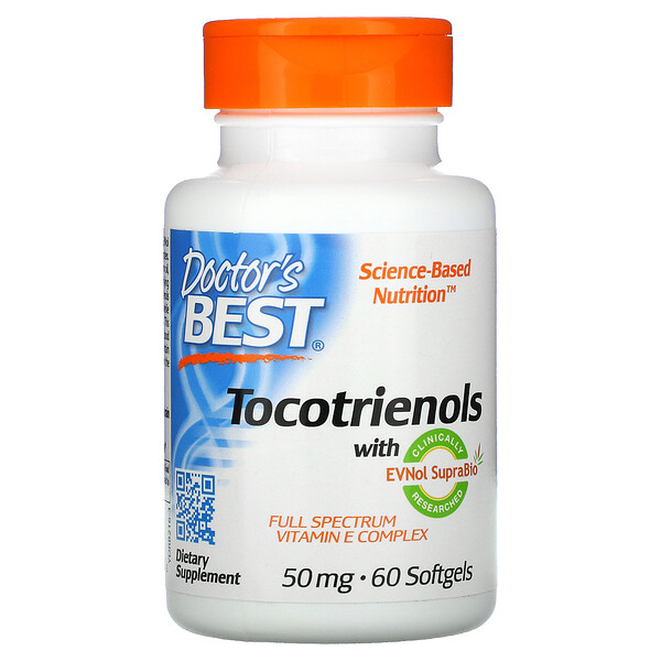 Tocotrienols with EVNol SupraBio, 50 mg, 60 Softgels
