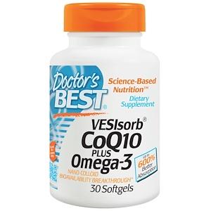 Докторс Бэст, VESIsorb CoQ10 Plus Omega-3, 30 Softgels отзывы покупателей