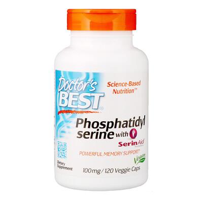 Купить Фосфатидилсерин с SerinAid, 100 мг, 120 вегетарианских капсул