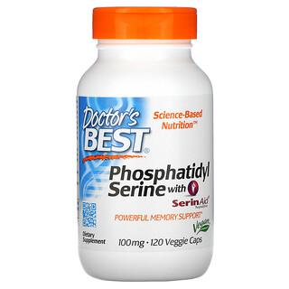 Doctor's Best, Phosphatidylserine with SerinAid, 100 mg, 120 Veggie Caps