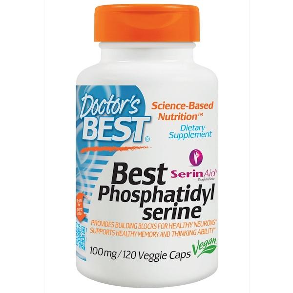 Doctor's Best, Best Phosphatidylserine with SerinAid, 100 mg, 120 Veggie Caps