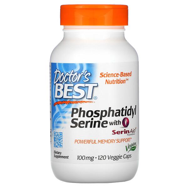 含 SerinAid 的磷脂醯絲氨酸,100 毫克,120 粒素食膠囊