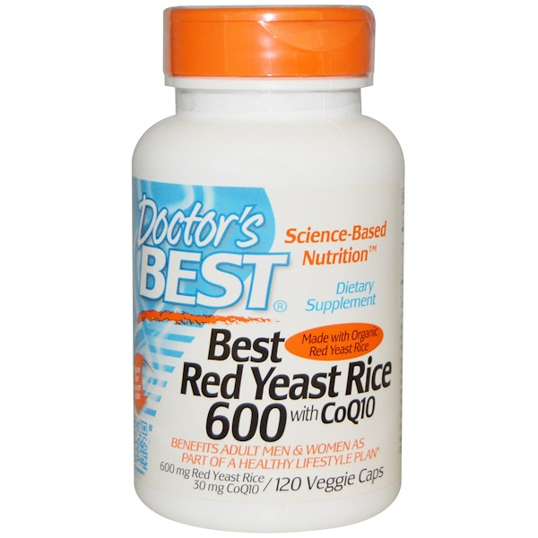 Doctor's Best, Best Red Yeast Rice 600, with CoQ10, 120 Veggie Caps (Discontinued Item)