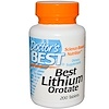Doctor's Best, Best Lithium Orotate, 200 Tablets (Discontinued Item)