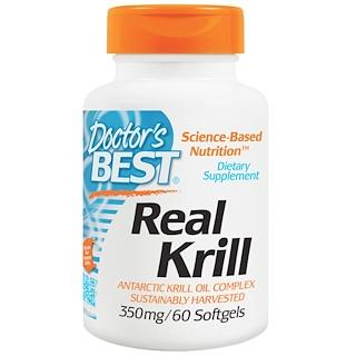 Doctor's Best, リアル・オキアミ、350 mg、60 ソフトジェルカプセル