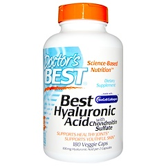 Doctor's Best, Best Hyaluronic Acid, With Chondroitin Sulfate, 180 Veggie Caps