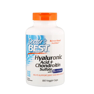 Doctor's Best, Hyaluronic Acid + Chondroitin Sulfate , 180 Veggie Caps