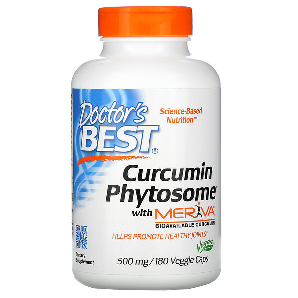 Curcumin Phytosome with Meriva, 500 mg, 180 Veggie Caps