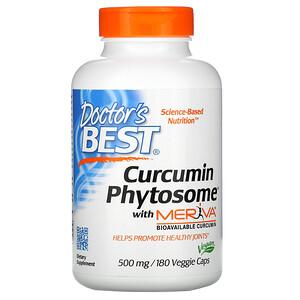 Докторс Бэст, Curcumin Phytosome with Meriva, 500 mg, 180 Veggie Caps отзывы покупателей
