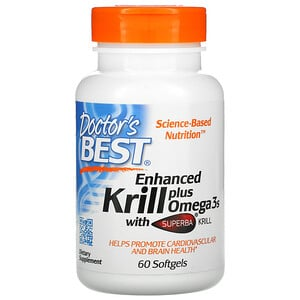 Докторс Бэст, Enhanced Krill Plus Omega3s with Superba Krill, 60 Softgels отзывы покупателей
