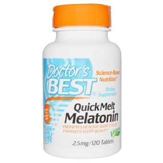 Doctor's Best, Melatonin, 2.5 mg, 120 Chewable Tablets