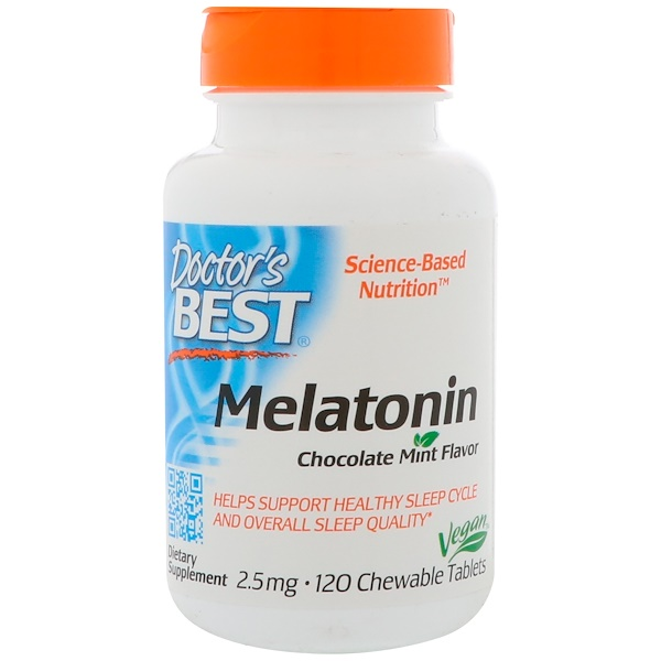 Doctor's Best, Melatonin, 2.5 mg, 120 Chewable Tablets
