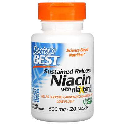 Doctors Best Ниацин замедленного высвобождения с niaXtend, 500 мг, 120 таблеток