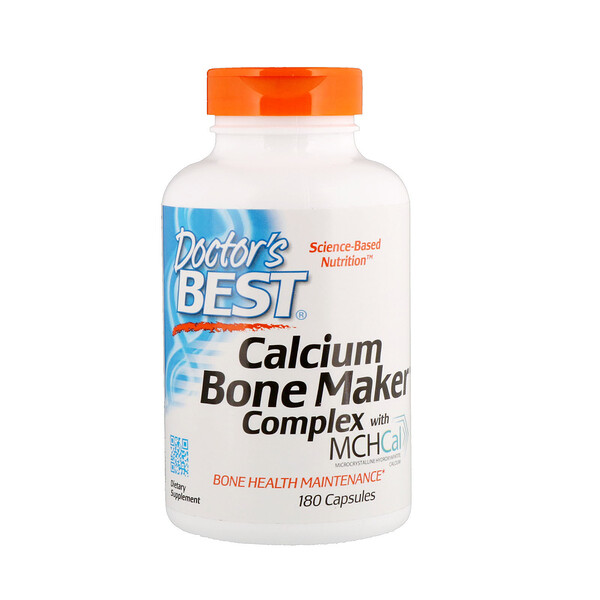 Doctor's Best, Calcium Bone Maker Complex with MCHCal, 180 Capsules