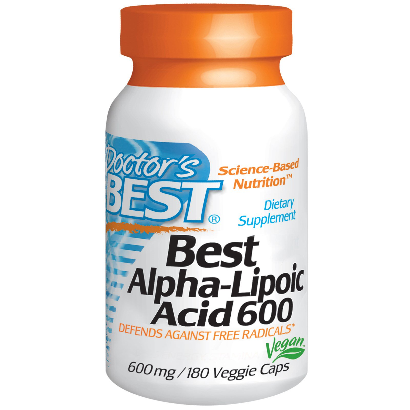 Doctor's Best, Best Alpha-Lipoic Acid, 600 Mg, 180 Veggie