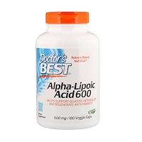 Альфа-липоевая кислота, 600 мг, 180 вегетарианских капсул - фото