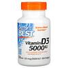 Doctor's Best, فيتامين د3، 125 مكجم (5000 وحدة دولية)، 360 كبسولة هلامية