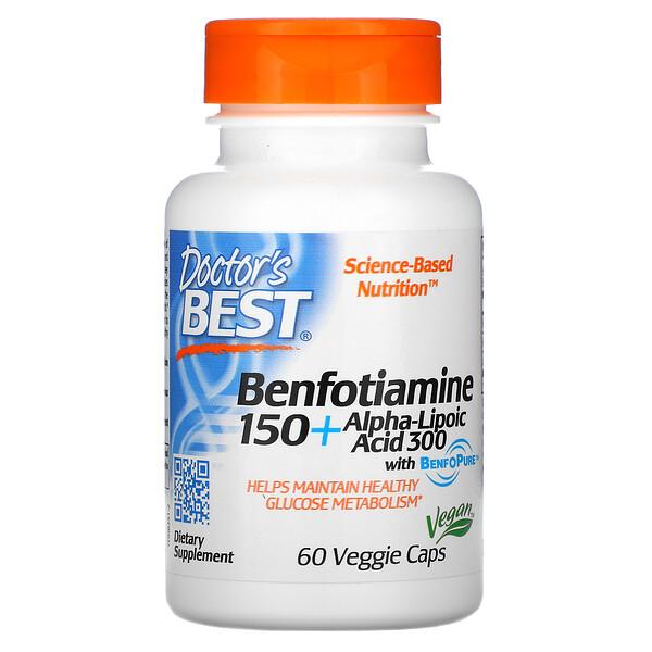 Benfotiamina150 con ácido alfa-lipoico300, 60cápsulas vegetales