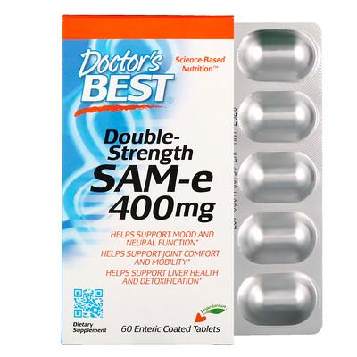 цена на SAM-e, Double Strength, 400 мг, 60 таблетки, покрытые желудочно-резистентной оболочкой
