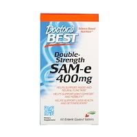 SAM-e, Double Strength, 400 мг, 60 таблетки, покрытые желудочно-резистентной оболочкой - фото