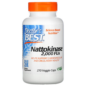 Докторс Бэст, Best Nattokinase, 2,000 FUs, 270 Veggie Caps отзывы