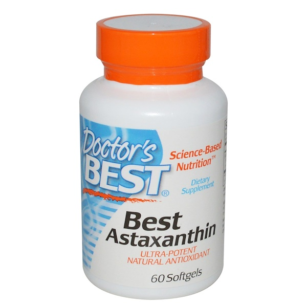 Doctor's Best, Best Astaxanthin, 60 Softgels (Discontinued Item)
