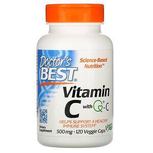 Докторс Бэст, Vitamin C with Q-C, 500 mg, 120 Veggie Caps отзывы покупателей