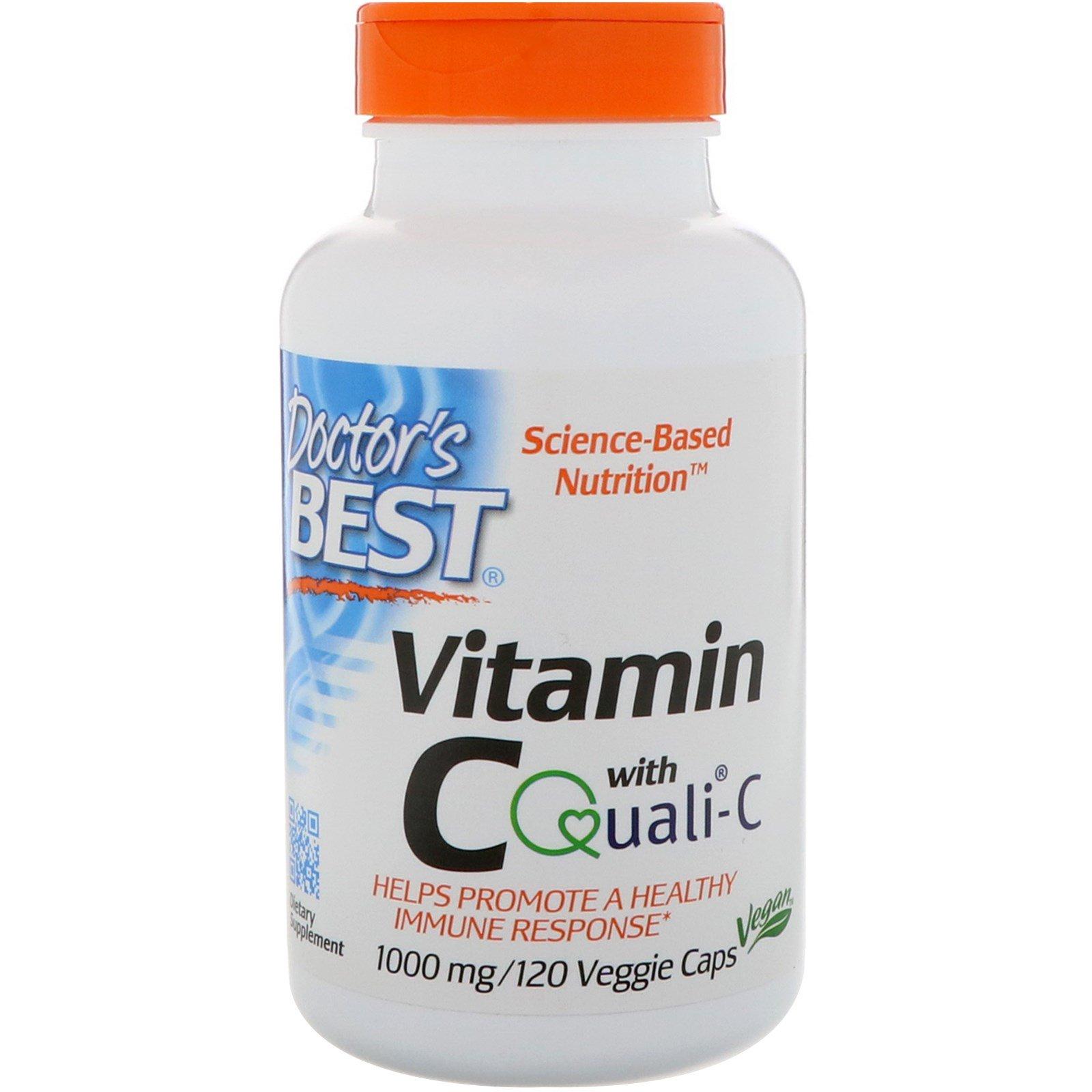 Doctor's Best, Витамин С Quali-C, 1000 мг, 120 растительных капсул