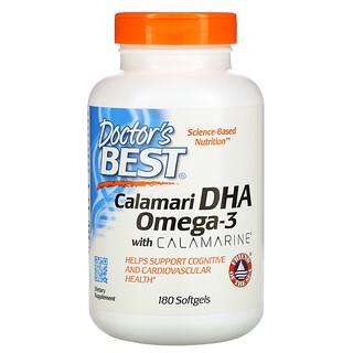 Doctor's Best, カラマリDHA 500 ウィズカラマリン、500 mg、ソフトジェル180粒
