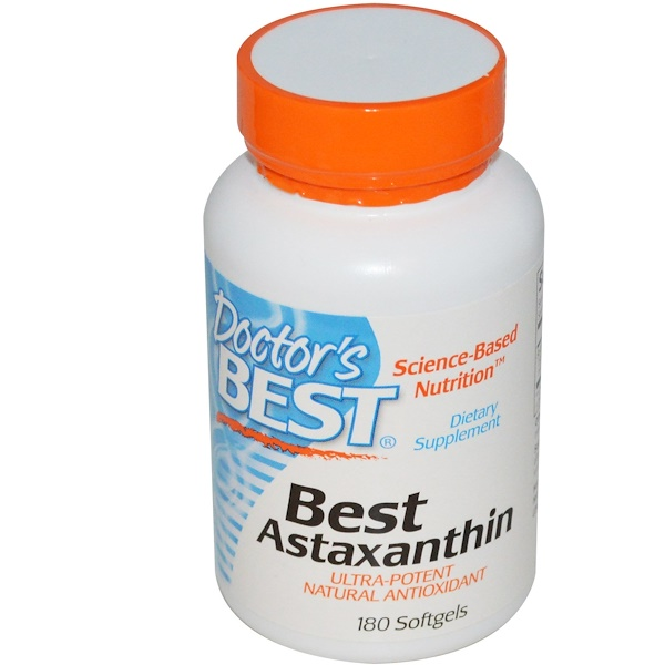 Doctor's Best, Астаксантин Best, 180 капсул (Discontinued Item)