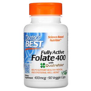 Докторс Бэст, Fully Active Folate 400 with Quatrefolic, 400 mcg, 90 Veggie Caps отзывы