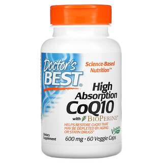 Doctor's Best, 高吸收率含BioPerine輔酶Q10素膠囊,600毫克,60粒