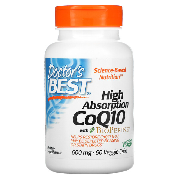 高吸收率含BioPerine辅酶Q10素胶囊,600毫克,60粒