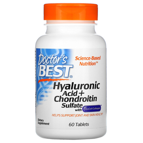 Hyaluronic Acid + Chondroitin Sulfate with BioCell Collagen, 60 Tablets