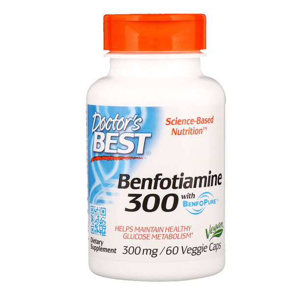 :Doctor's Best, Benfotiamine with BenfoPure , 300 mg, 60 Veggie Caps